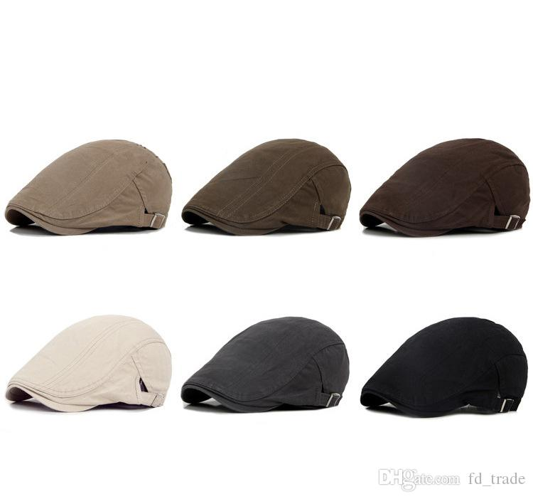 90d876fc69011 2019 Winter Men Cap Hats Berets British Western Style Wool Advanced Flat  Ivy Cap Gatsby Newsboy Hunting Hat C118 From Fd trade
