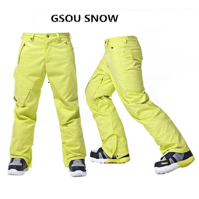 66fb229933 2019 Gsou Snow Brand Ski Pants For Men Snowboard Pants Waterproof ...