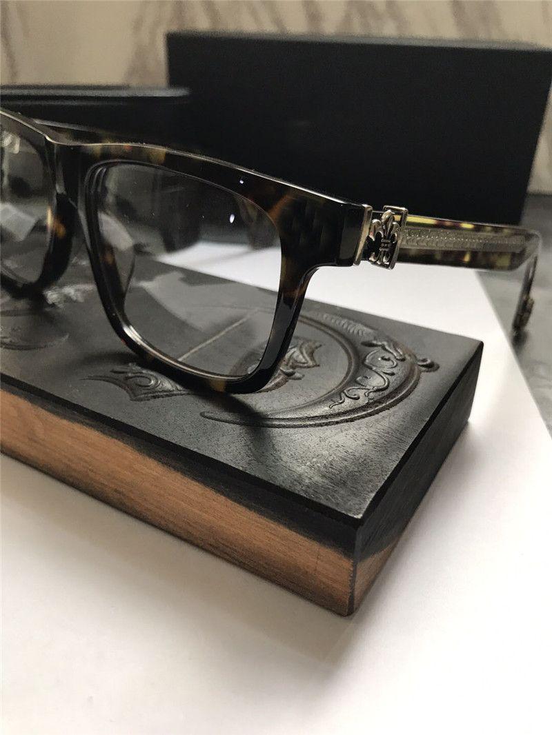 جديد خمر النظارات تصميم chr نظارات وصفة steampunk مربع الإطار نمط الرجال عدسة عدسة شفافة واضحة حماية النظارات