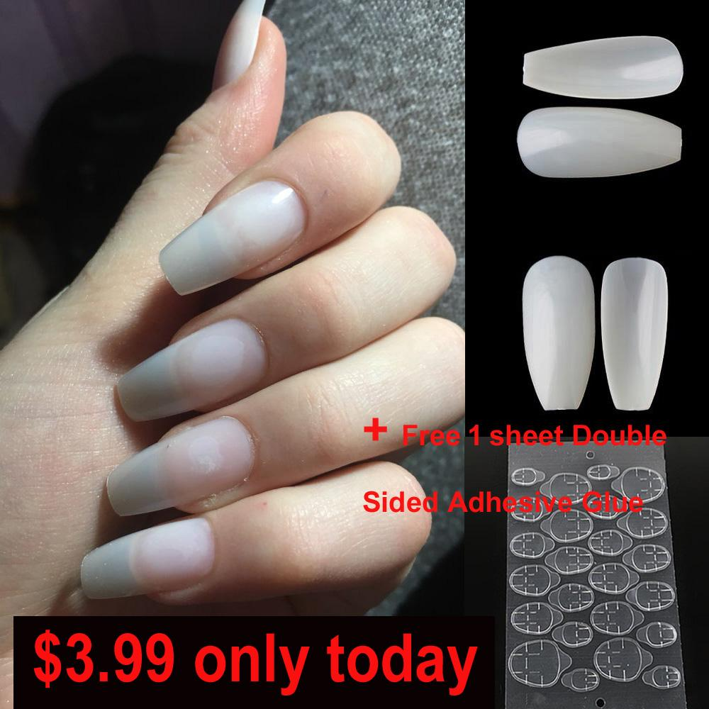 Fashion Fake Nails Ballerina Coffin Finger Beauty False Nail Plastic