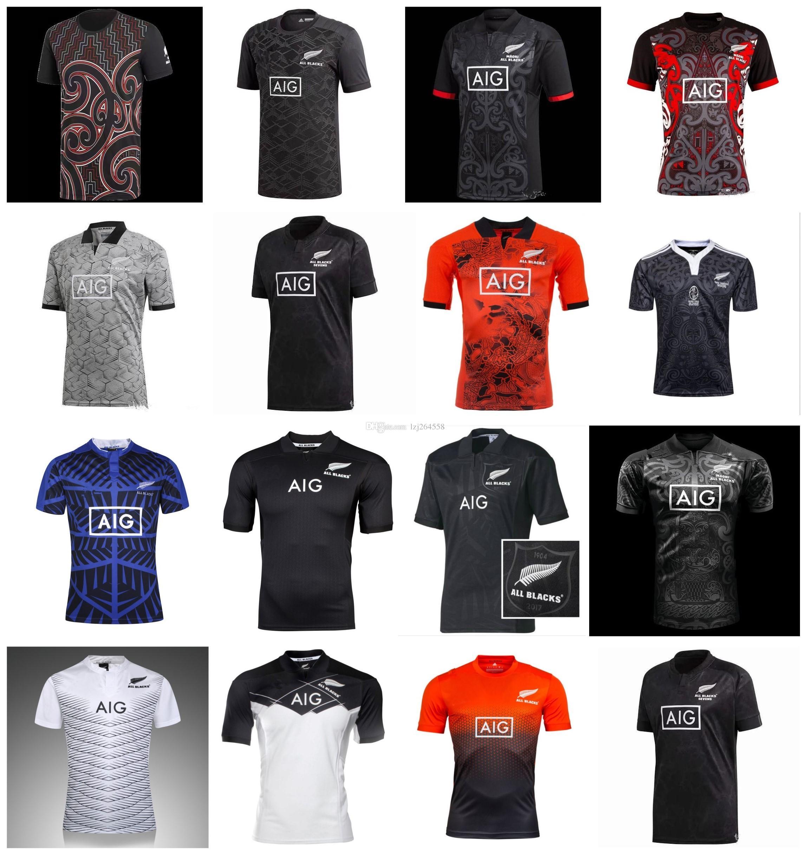 ea70f93b9ea22 Compre Nuevo Top 2019 New Zealand All Blacks Rugby Jersey Camiseta De Rugby  Camisetas De Fútbol Hombre S XXXL 2018 17 18 19 Entrenamiento Top Thai  Quality ...