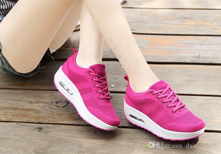 0bd070b4fac7 2018 Spring Girl Casual Shoes Girls Korean Air Cushion Design Shoes ...