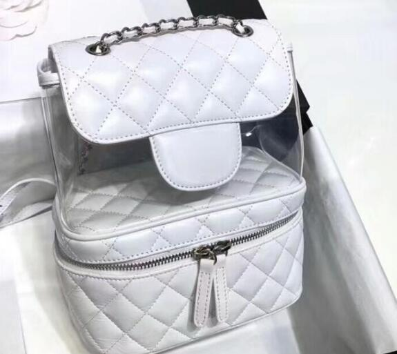 0cacc4881ff4 AAAAA A57824 22cm Crumpled Calfskin PVC Resin&Silver Tone Metal Flap  Backpack Bag,Zip Closure Makeup Bag ,Come With Dust Bag Box N1 Purses For  Sale Womens ...