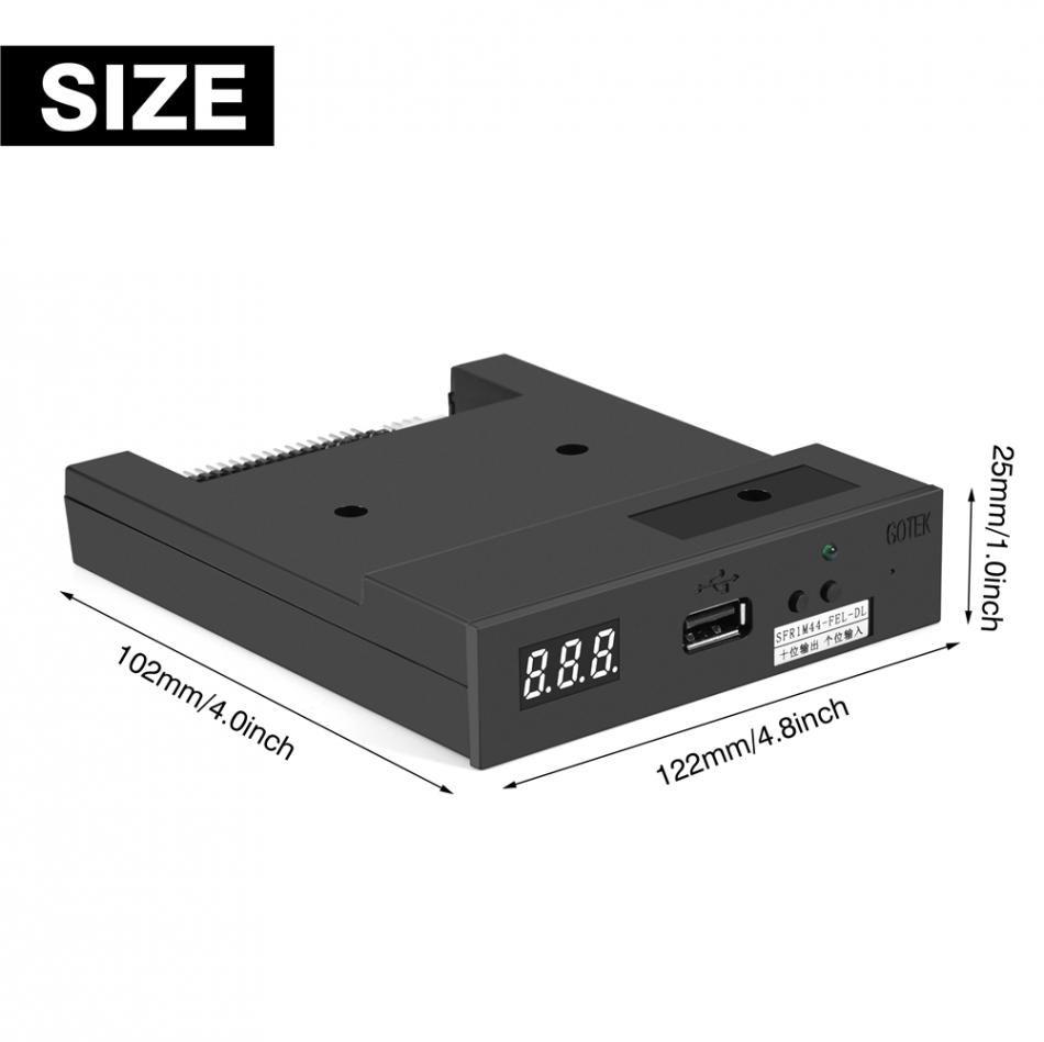 SFR1M44-FEL-DL 3,5-Zoll-1,44-MB-USB-SSD-Diskettenlaufwerk-Emulator für musikalische Tastatur