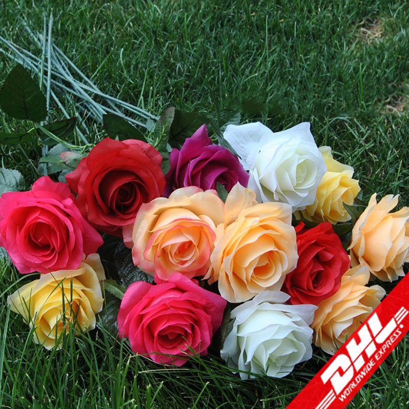 2019 Silk Flowers Wholesale Rose Heads Fake Flowers Head High