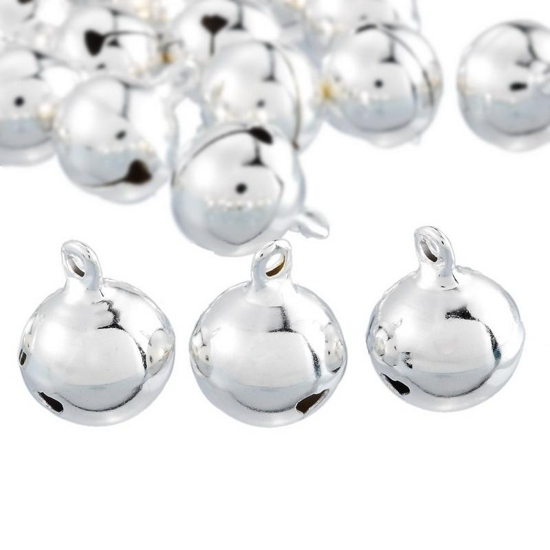 2018 silver jingle bells pendants hanging christmas tree ornaments