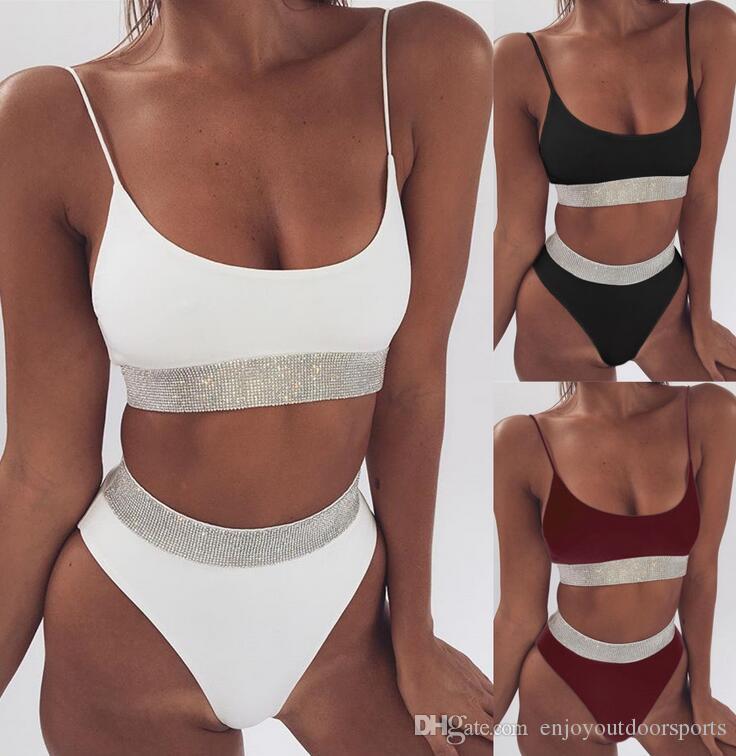 8786fa19be65f 2019 2018 Sexy High Waist Bikini Women Swimwear Push Up Swimsuit Bathing  Suit Padded Bra Bikini Set Summer Beachwear Swimsuit Female Biquinis From  ...