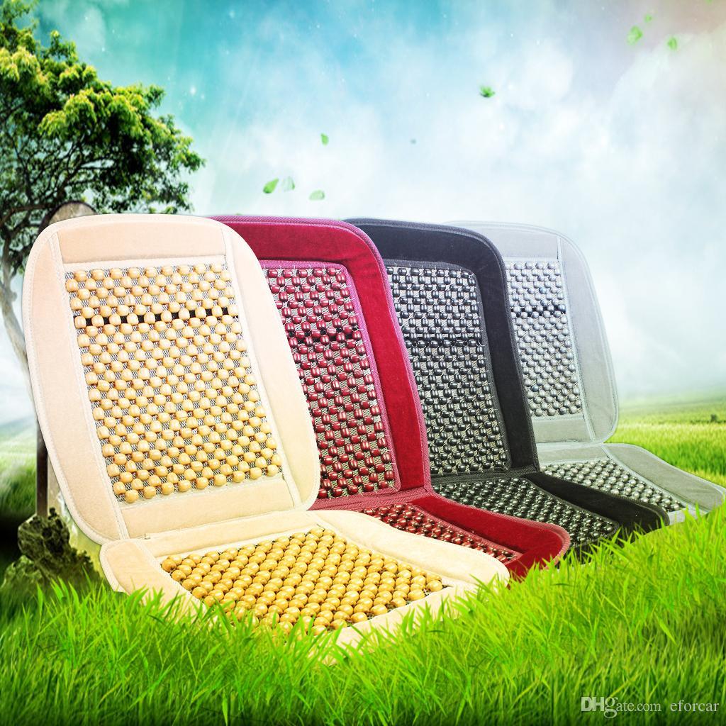 Naturalne drewno Koralik Poduszka Auto Samochód Home Krzesełka Pokrywa Tan Zroszony Krzesło biurowe Krzesło BSEAT