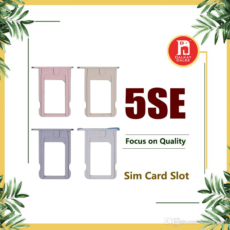 For iPhone SE Brand New SIM Card Tray Holder Slot Grey Silver Gold Rose Gold Replacement Spare Repair Parts for iphone 5se