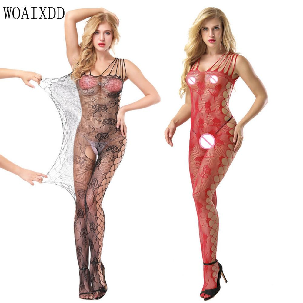 b45f5b832 2019 Women Lingerie Costumes Voile Mesh See Through Fishnet Babydoll Sexy  Costumes Woaixdd Underwear Teddies Dress Crotchless Toy From Nakewei