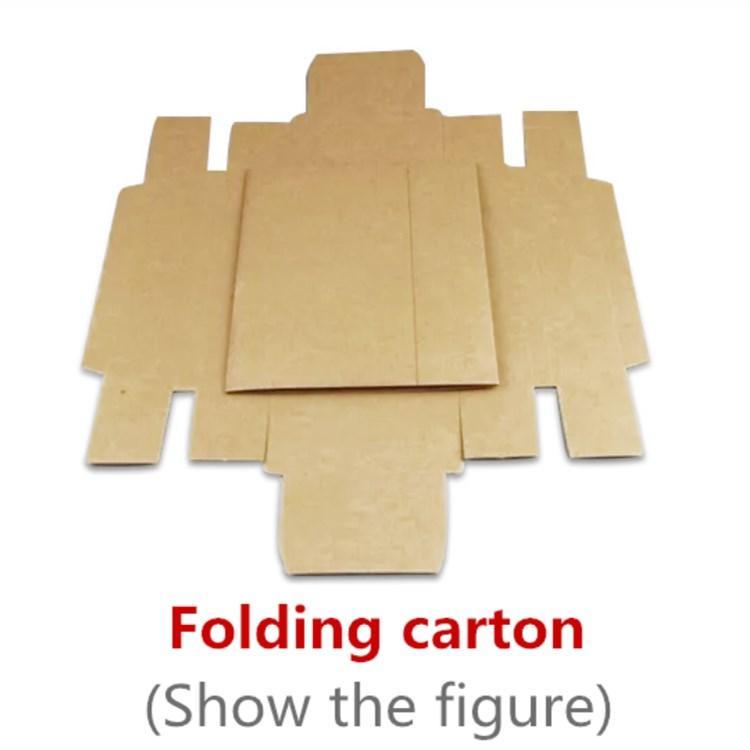 Kraft Paper Box Leather Cosmetic Carton No LOGO Box Exquisite Gift Carton Folding Paper Box Tea Packing