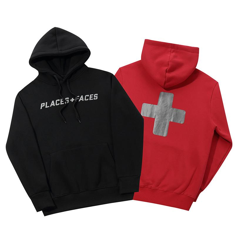 2f7f7600 Best Version PLACES+FACES 3M Reflection Logo Printed Women Men Hoodies  Sweatshirts Hiphop Streetwear Men Hoodie Pullover Fleece