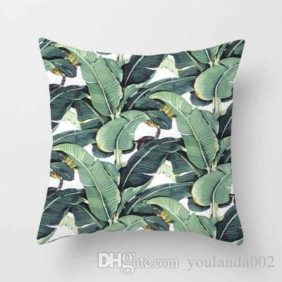도매 패션 꽃과 식물 열대 식물 폴리 에스터 베개 커버 사무실 소파 쿠션 홈 pillowcases, 45 * 45CM, 홈 인테리어