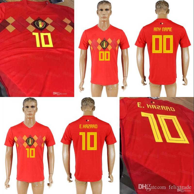 Belgium 2018 World Cup Jerseys Home Red Eden Hazard Thorgan Hazard Adnan  Januzaj Anthony Limbombe Dries Mertens Soccer Jerseys Canada 2019 From  Felixtrade 2646dc00f