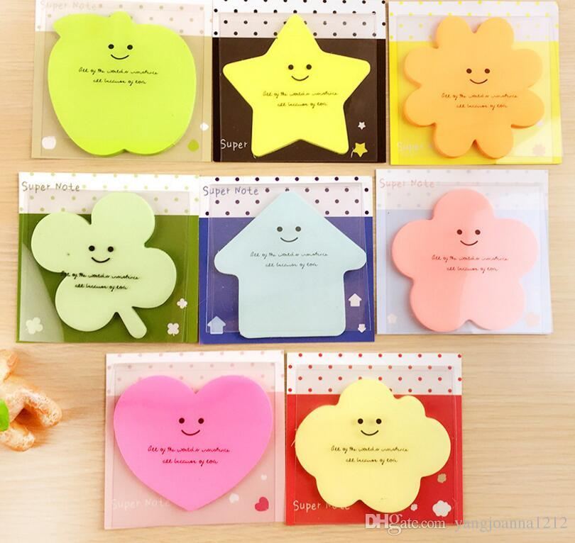 2019 wholesale cute candy color pastoral post it notes cute sticky