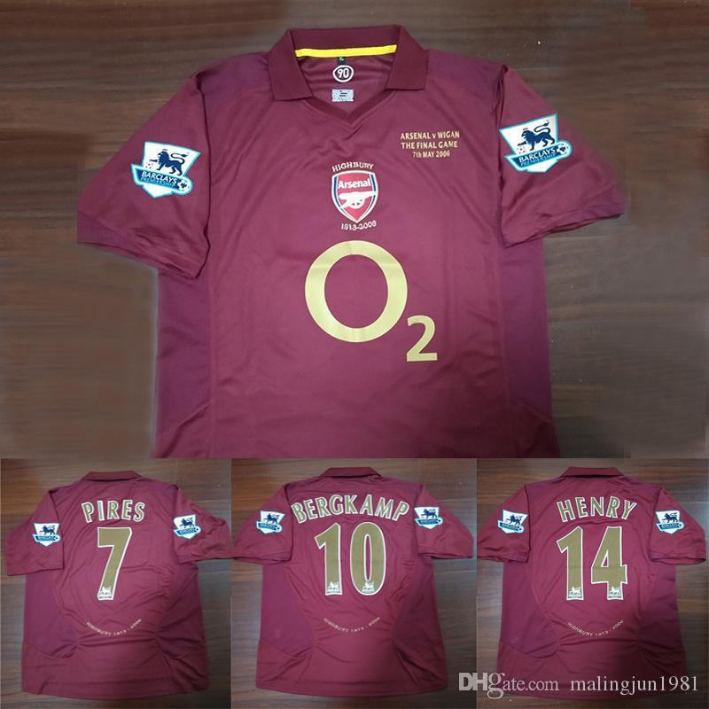 Velvet Name Number 05 06 Arsenal Bergkamp V.Persie Henry Pires ... f5b612d7fe765