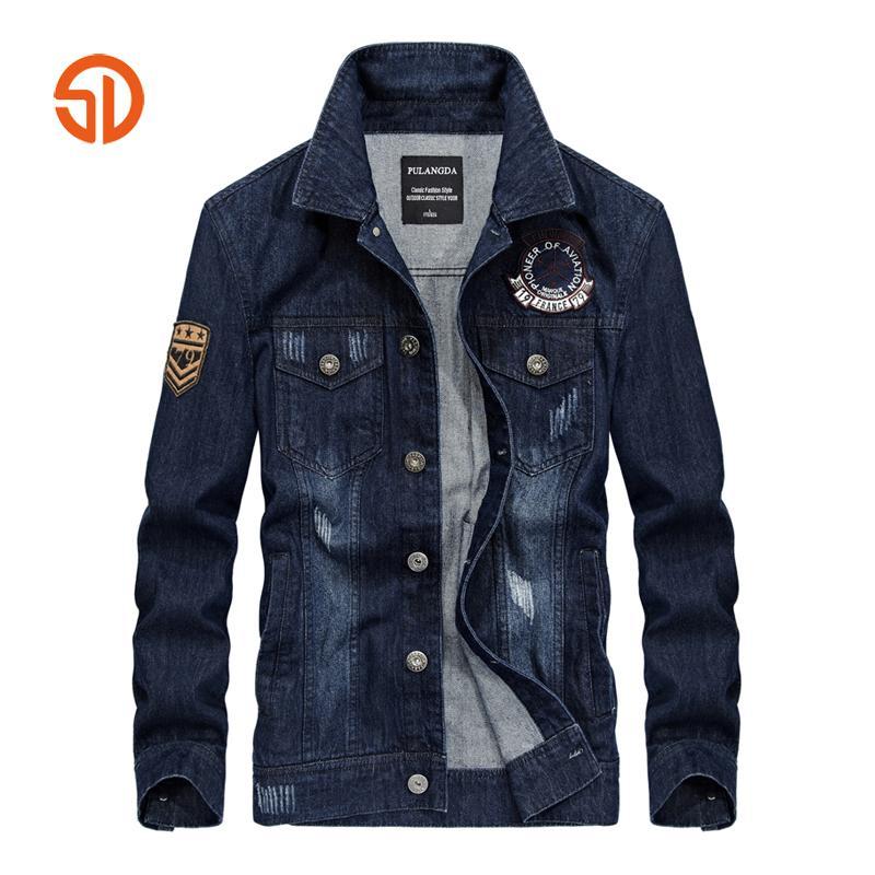 Black Blue Denim Jackets Men Spring Autumn Fashion Jacket Single