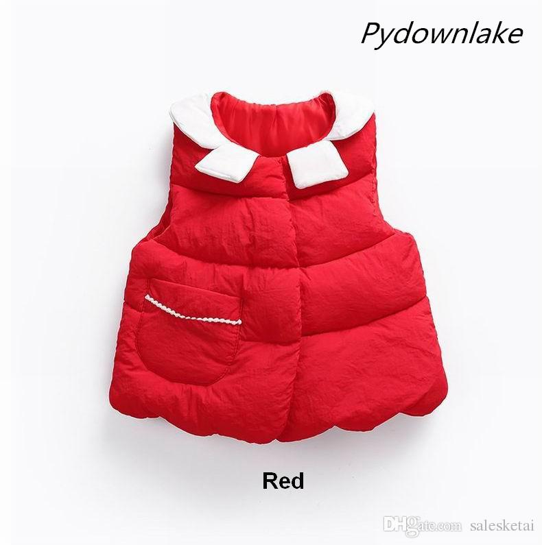 8383ef297675 2018 Autumn Vest For Girls Solid Girls Vest Warm Thick Sleeveless ...