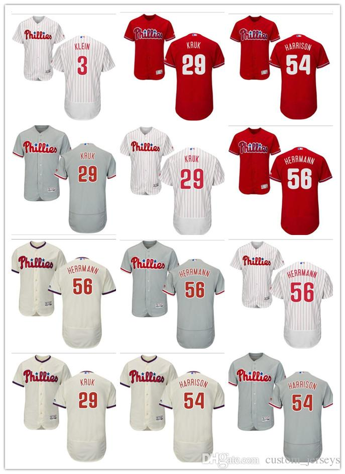 Custom Men Women Youth Philadelphia Phillies Jersey  3 Chuck Klein ... 4aa1e96375a
