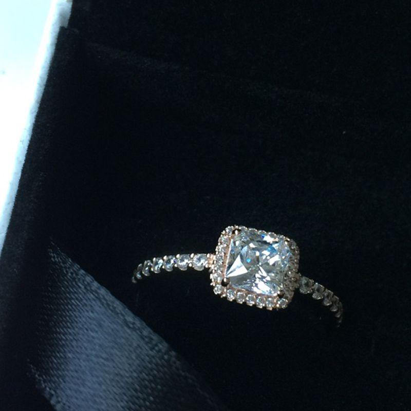 Real 925 Sterling Silver CZ Anjo de Diamante com LOGOTIPO caixa Original Fit Pandora estilo 18 K Anel de Casamento de Ouro Jóias de Noivado para As Mulheres