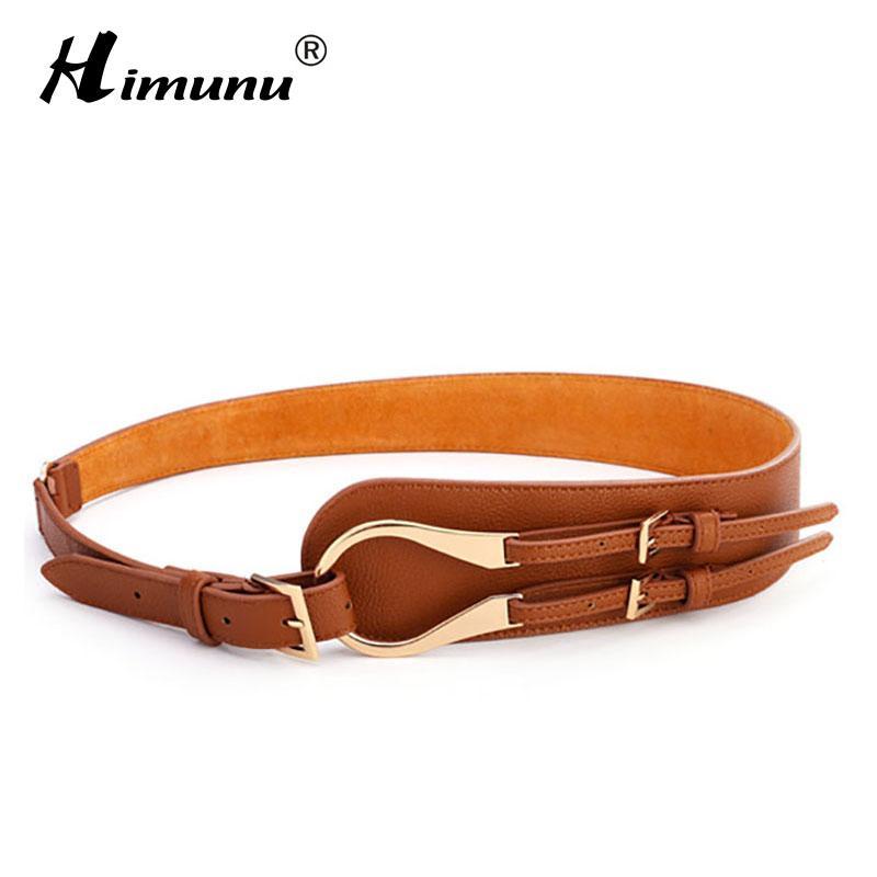 Compre HIMUNU Marcas Cinturones De Cuero Genuino De Piel De Vaca Para Mujer  Hebilla De Aleación Cuero Repujado Hebilla Versátil Cinturón Para Mujer A   16.2 ... c8fc93f690a6