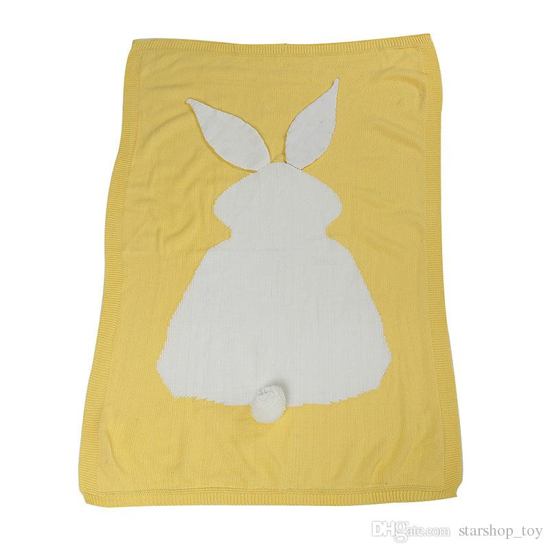 Baby Kids Knitted Blankets Children Newborn Adult Crochet Bed Sofa Blanket Air Conditioning Bunny Blanket Gifts 105*75cm TY7-153