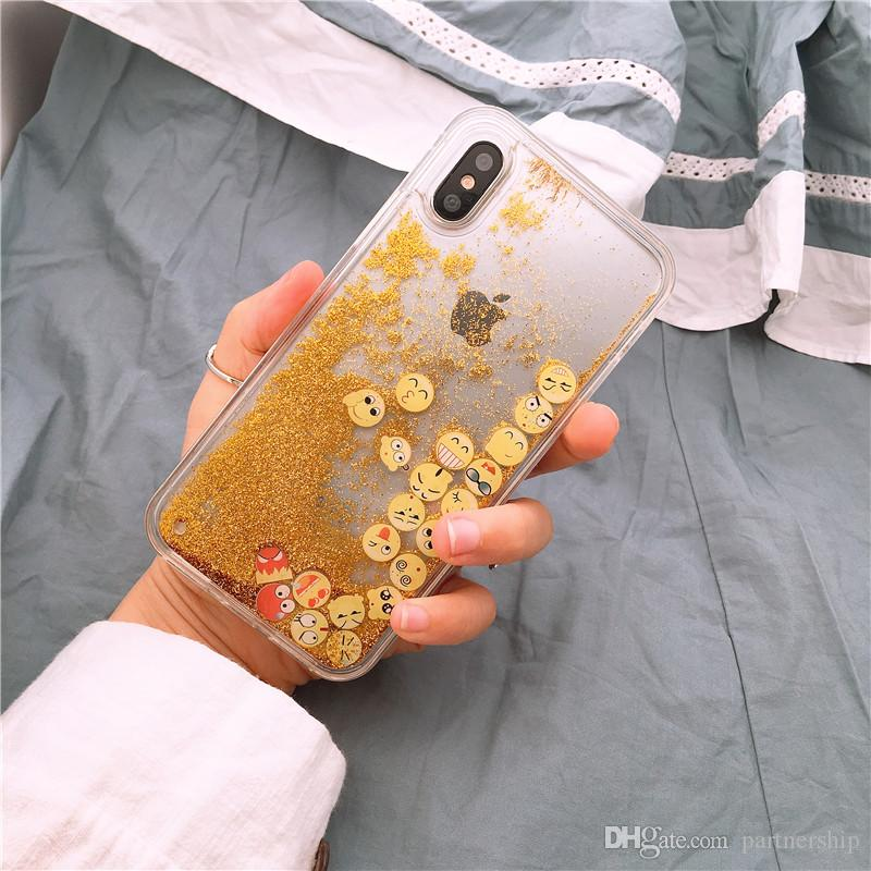 Luxury Glitter Liquid Sand Quicksand Star Case for iphone 5 5S SE 6 6S 7 8 Plus X 10 Transparent Clear Hard Cover