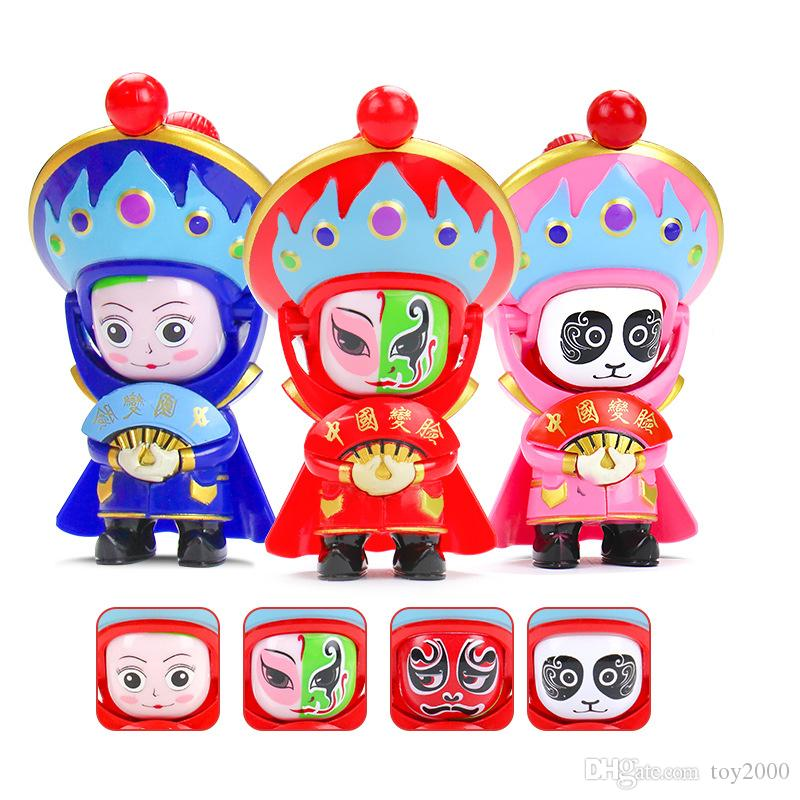Traditional Creative Chinese Opera Face Changing Doll Sichuan Opera action figures Toy Education Toy Baby Toys & Games Children kids toys