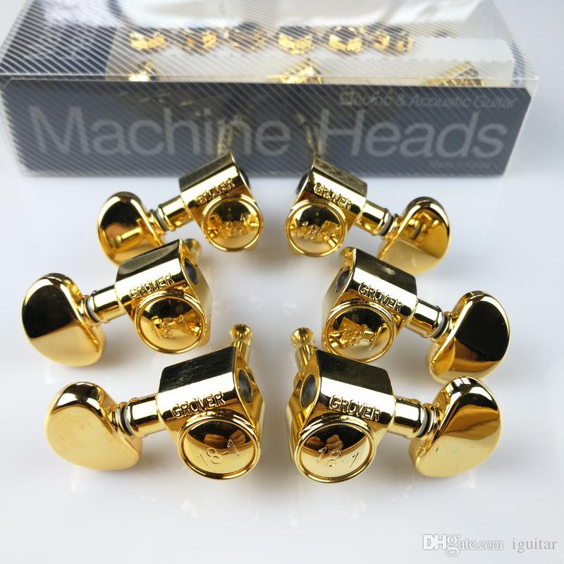 Grover Gold Electric Guitar Machine Heads Tuners Gold Tuning Pegs ( With packaging )