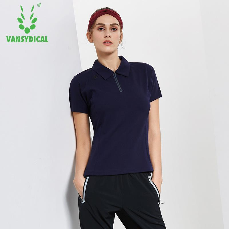 0adbbca3 Women's Half Zipper Golf Polo Shirts Short Sleeve Cotton Breathable Outdoor  Workout Tennis Golf Jerseys Sports Tops