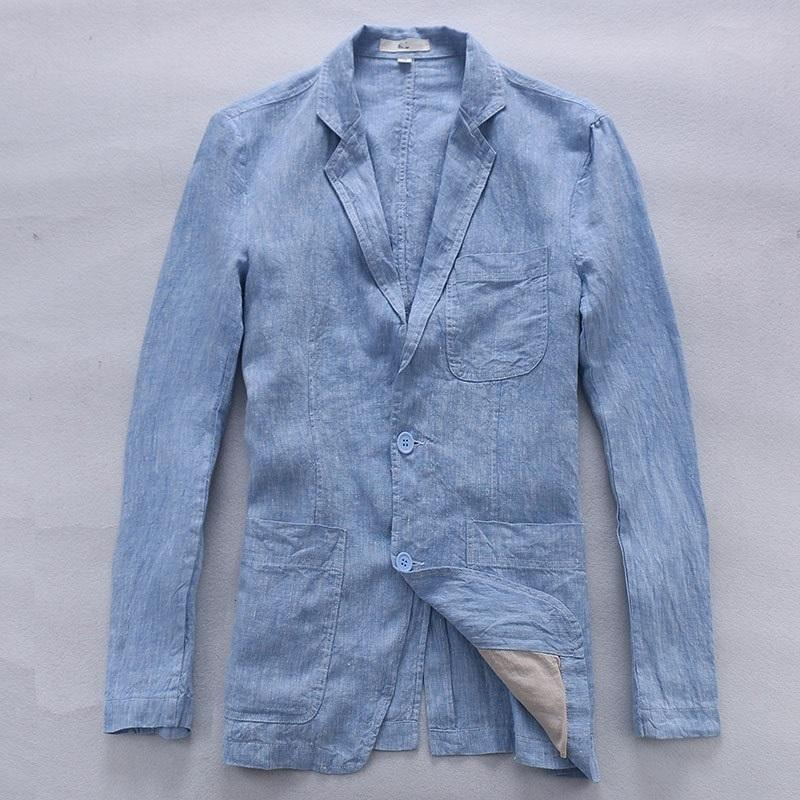 58f575f02565 2019 Men S British Wind Linen Jacket Mens Casual Small Suit Single Western  050 From Mangcao