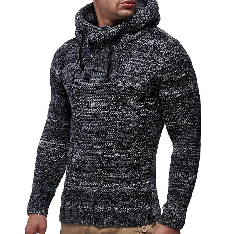 Großhandel SHUJIN Winter Strickpullover Männer Herbstmode Solide Herren  Pullover 2018 Lässige Rollkragen Oberbekleidung Mit Kapuze Pullover Pullover  Von ... dd8fd4a920