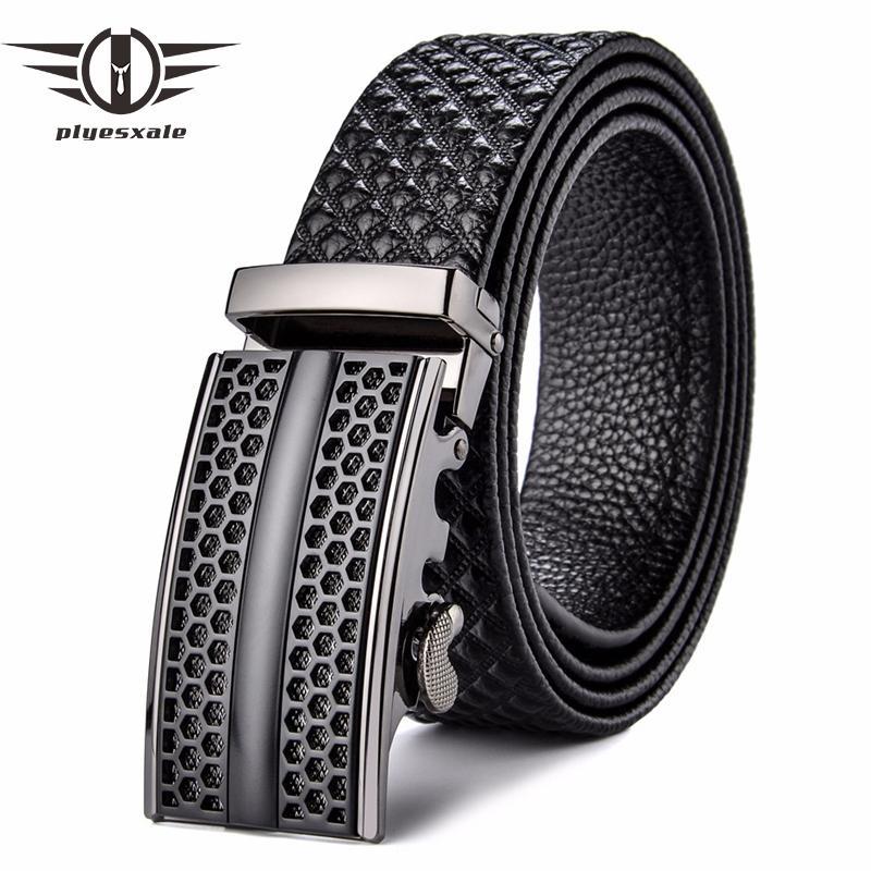 Compre Cinturones De Cuero Genuino De Los Hombres De La Marca De Lujo Para  Hombre Cinturones De Vestir De Diseño Formal De La Pretina Hebilla  Automática ... 57d767f33bfe