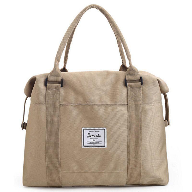 Portable Women Canvas Travel Duffle Bag Large Luggage Tote Shoulder Bags  Handbag Weekend Bag Trip Short Travel Overnight Bags Overnight Bags Weekend  Bags ... b470c3756
