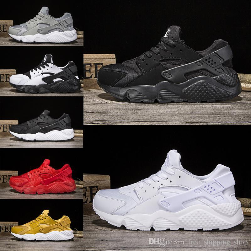 005a9c2d84188 Air Huarache Run Triple White Black Oreo Red Grey Men Women Huaraches Sport  Shoe Trainer Ultra Running Shoes Jogging Shoes Huaraches Sneaker Running  Shoes ...