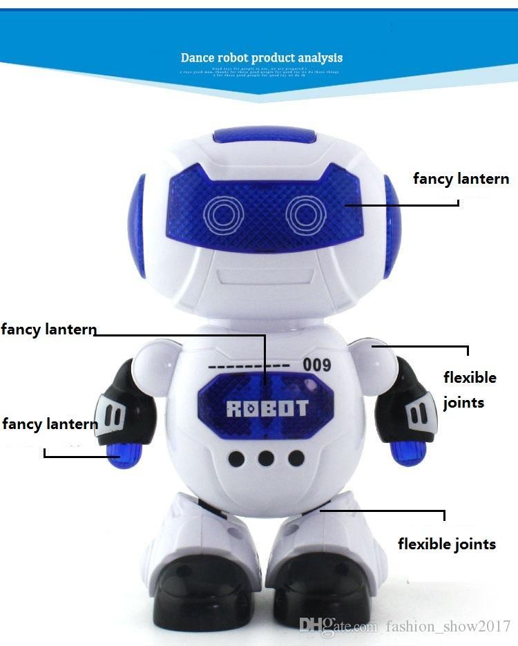 Hohe Qualität Elektrische Intelligente CuteRobot Ferngesteuerte RC Musical Tanzen Roboter Spaziergang Lightening Roboter Für Kinder Geschenk