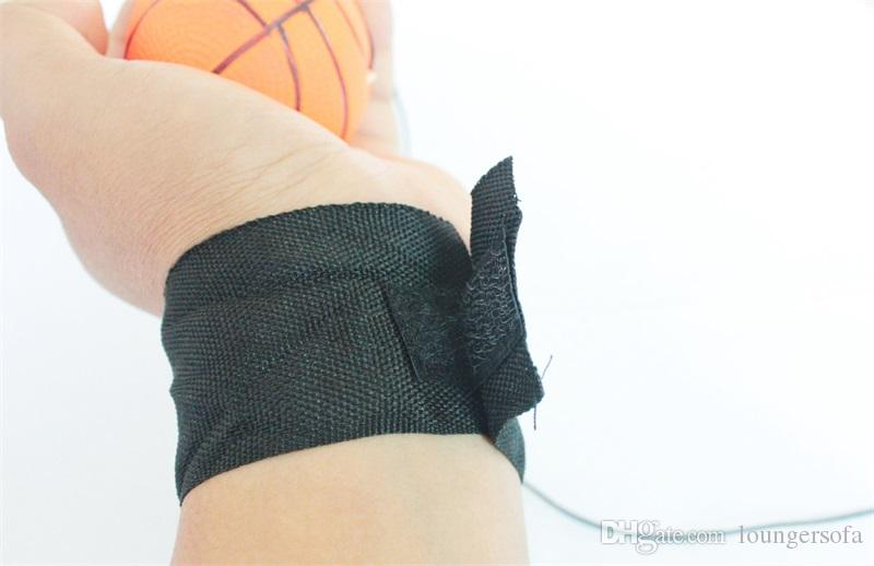 Throwing Bouncy Rubber Balls Kids Funny Elastic Reaction Training Wrist Band Ball For Outdoor Games Toy Novelty 25xq UU