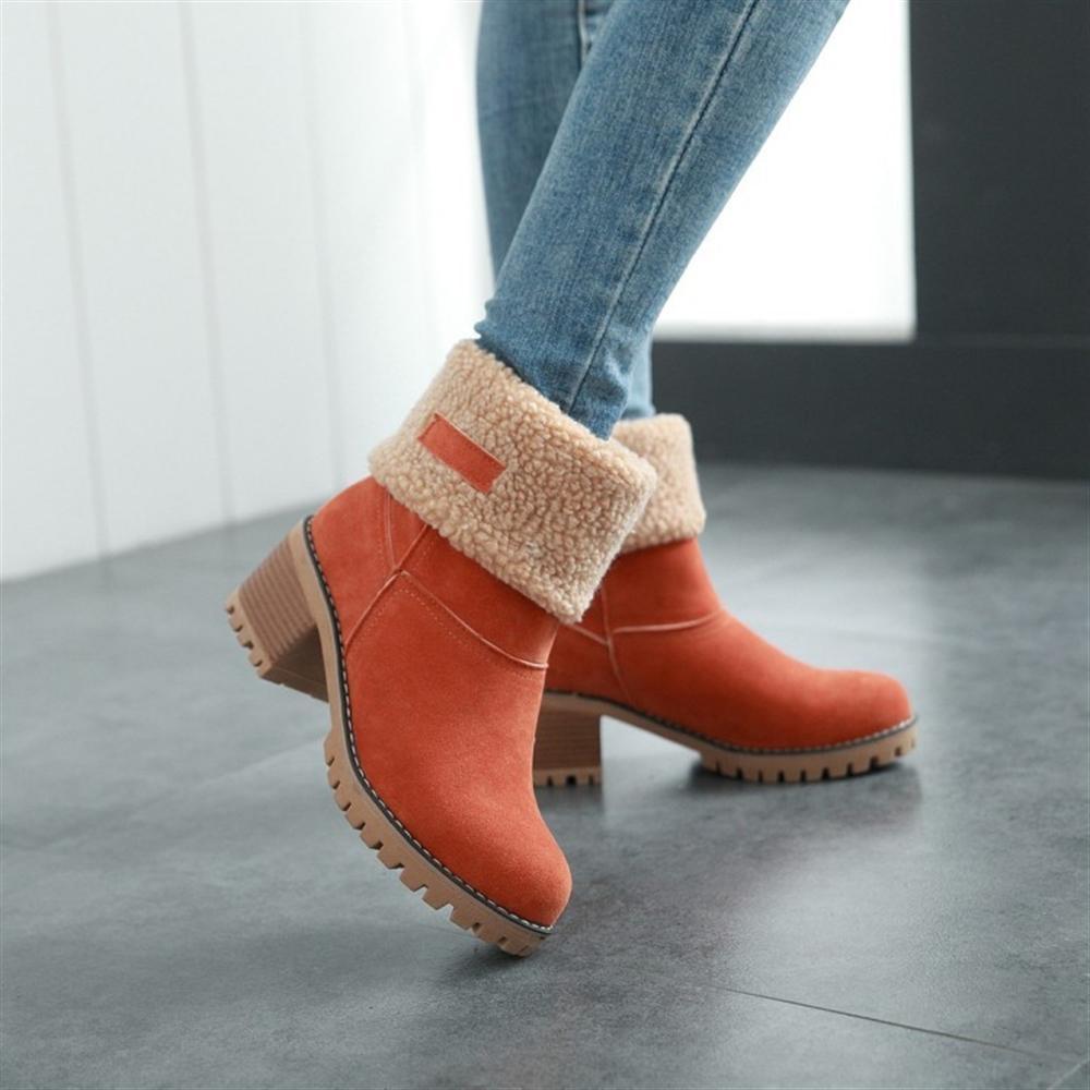 f0dbe6864cf ... Para O Inverno Frio Botas De Neve Sapatos Femininos Mulher Moda Manter  Deslizamento Quente Em Senhora Botas Sapatos Femininos Grandes Tamanhos 35  43 De ...
