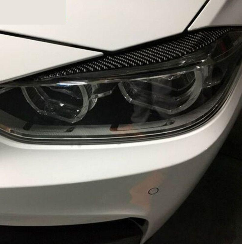 2019 Carbon Fiber Headlights Eyebrows Eyelids For Bmw F30 320i 325i
