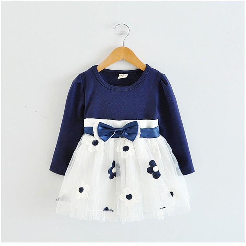 e5733b523b297 Baby Girl Dress Long Sleeve Autumn Winter Dress 1 Year Birthday Party  Toddler Girls Kids Casual Clothes Vestido Bebes Infantil