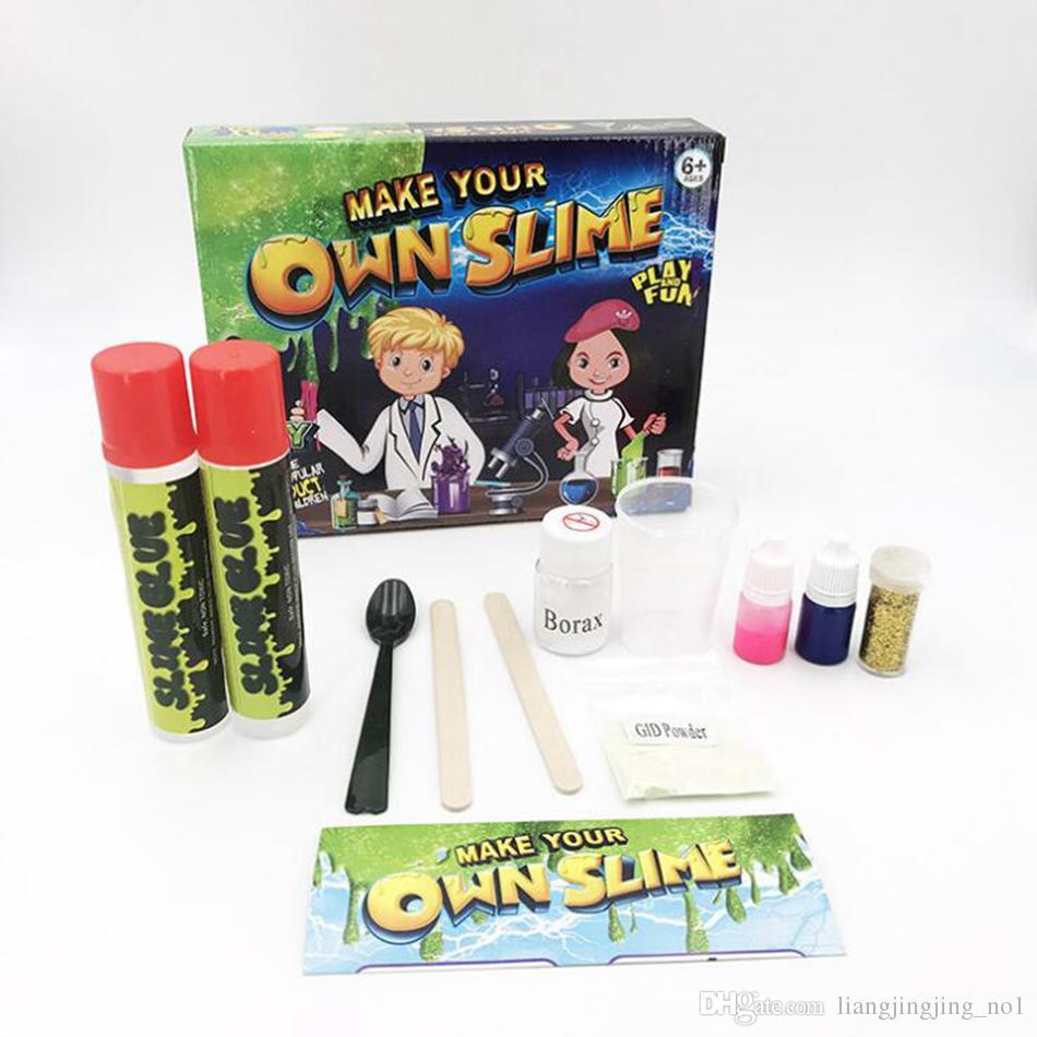 diy slime kit make your own slime kids snot slime gloop sensory play