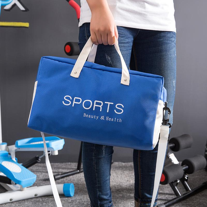 Hot Selling Large Capacity Travel Shoulder Duffel Bag Two Compartment  Handing Shopping Tote Bag For Outdoor Sports Picnic Swimming Blue Red Mens Duffle  Bags ... 6d00d55e1f08