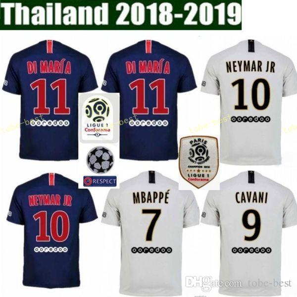 18 19 FC Paris Saint Germain Jersey PSG Soccer 7 MBAPPE 9 CAVANI 6 VERRATTI  11 DI MARIA SILVA Football Shirt Kits Online with  16.53 Piece on  Tobe-best s ... 306823d70