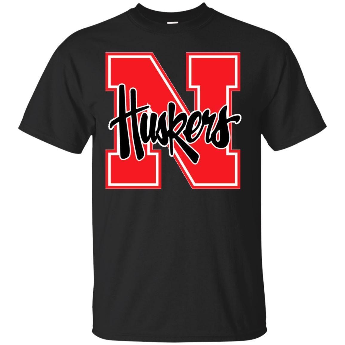 Black T Shirt Nebraska Huskers T Shirt For Mens Womens Size S 6XL T Shirts  Online White Shirt From Nxslevel cae3d4e58