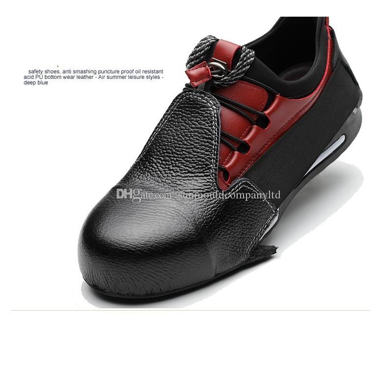 Nuovo 1 paia / lotto Uomo donna scarpe antinfortunistiche in vera pelle copriscarpe in acciaio woker copriletto visitatore materiale di protezione delle dita dei piedi overshoes: acciaio EN12