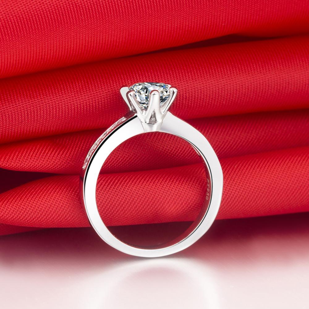 Drop Shipping 0.6 ct wedding band твердые серебряные белые позолоченные кольца Сона синтетические алмазные кольца для невесты не исчезают