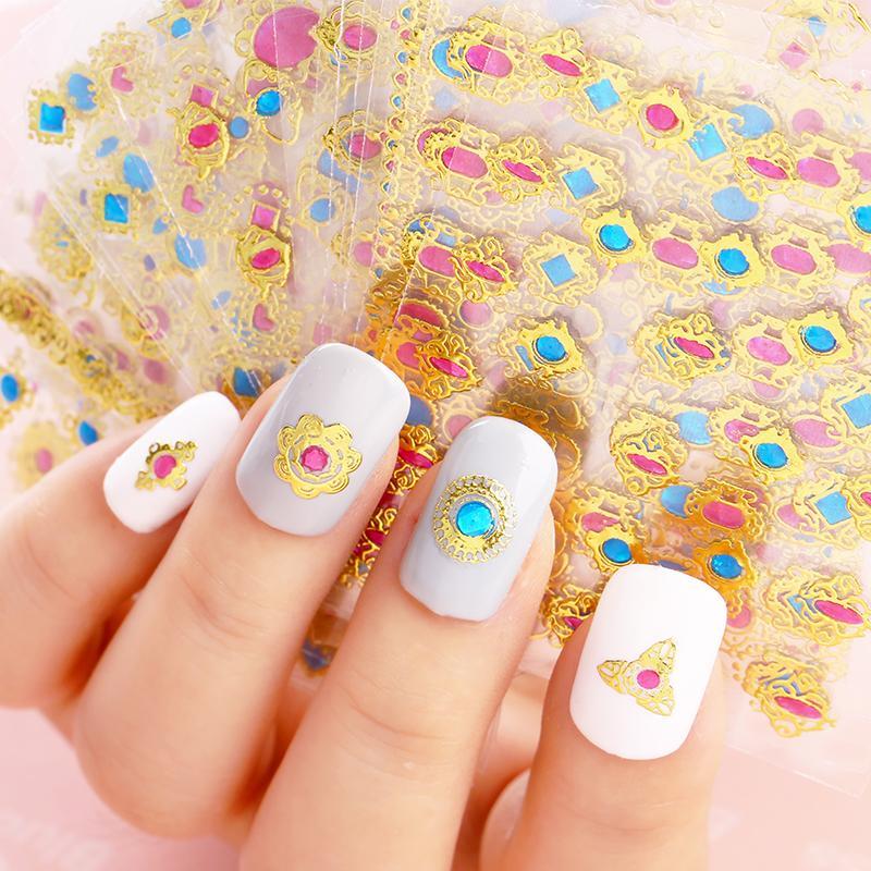 Blueness 3d Design Nail Foils Summer For Nail Art Stickers Manicure