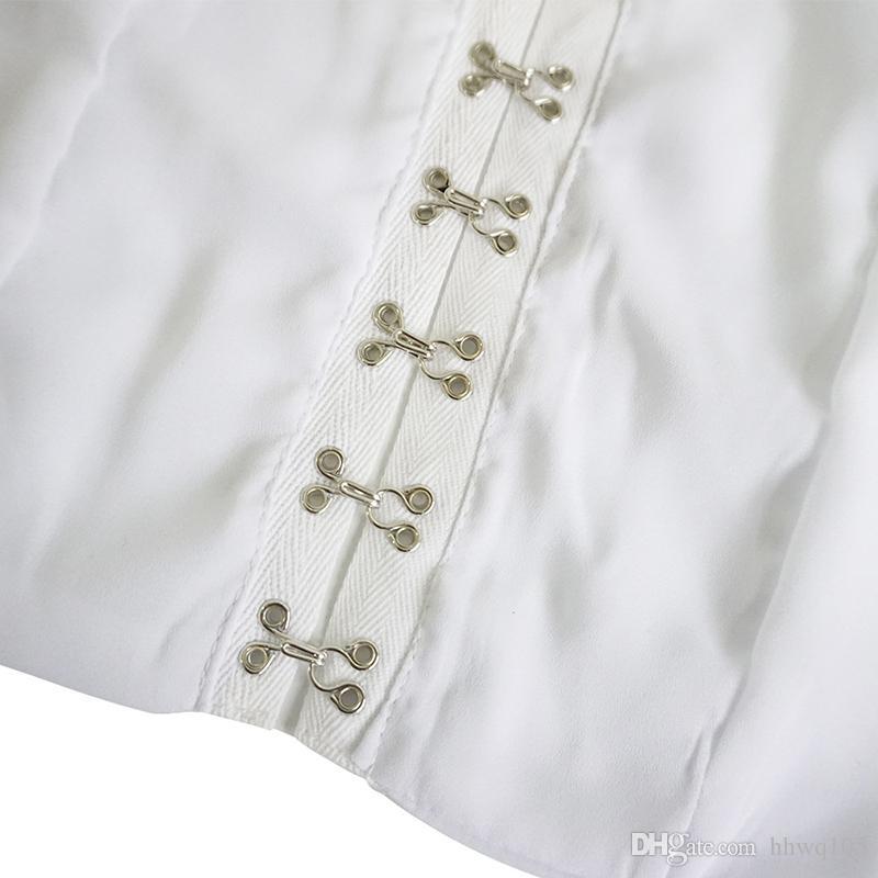 Nouveau style en mousseline de soie Blouse Blouse Carré manches lanterne Backless Sexy Blouses Femmes Bandage Club Top en mousseline de soie solides Chemises DZH0507