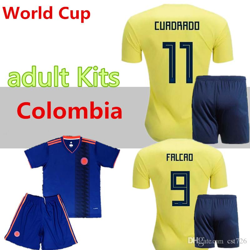 purchase cheap 5aa97 1f3fd Top thailand National JAMES 10 COLOMBIA soccer jerseys 2018 World Cup  Jersey FALCAO CUADRADO BACCA Football soccerkitscamisetas maillot