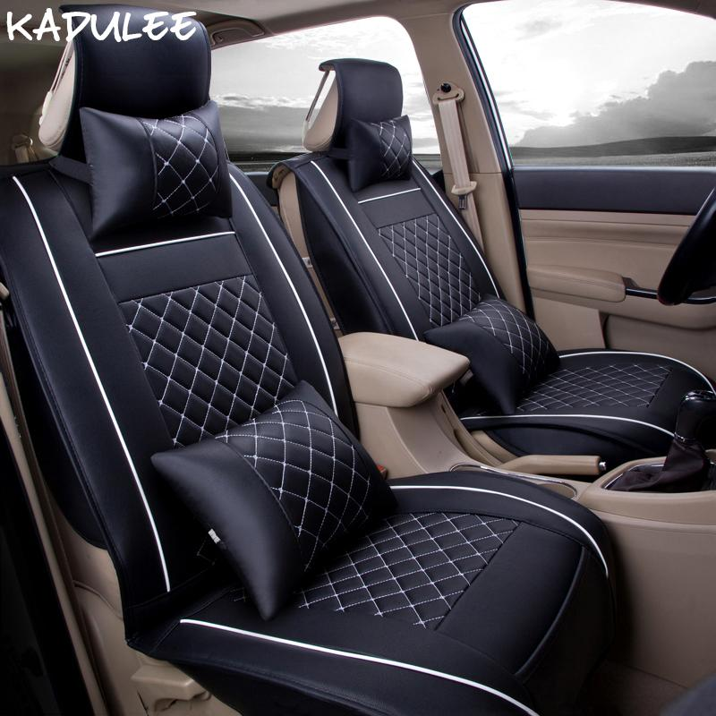 KADULEE Pu Leather Car Seat Cover For Infiniti Fx35 Dodge Challenger Freemont Kangoo Seats Protector Style Heaters Lift Cushion